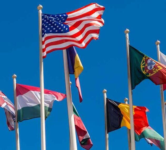 header - Drapeaux de pays étrangers