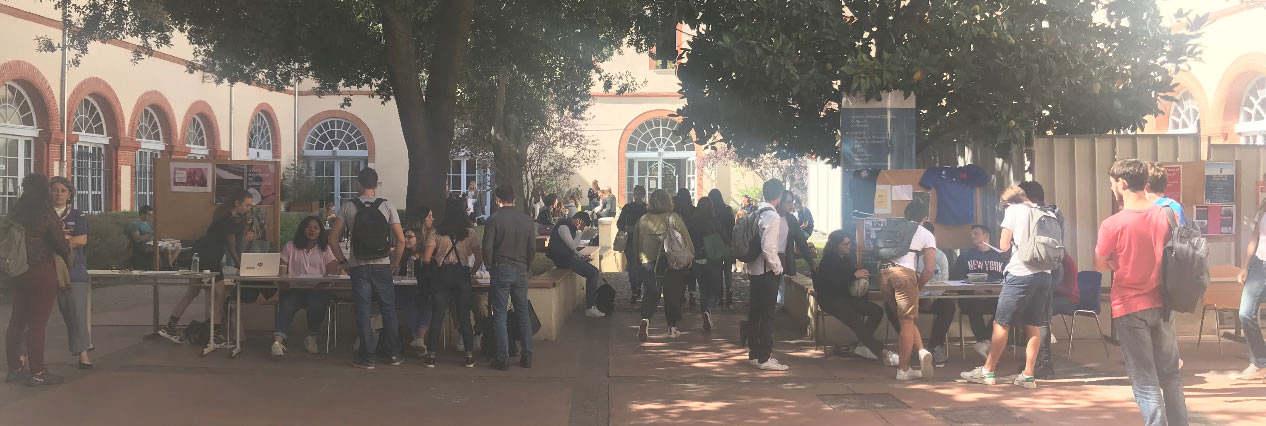 cour intérieure campus toulouse vie étudiante