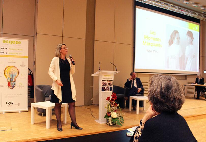 Cérémonie de fin d'études 2020 - Directrice ESQSE Marie BUI-LETURCQ